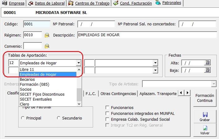 gestion nominas sistema especial empleados hogar