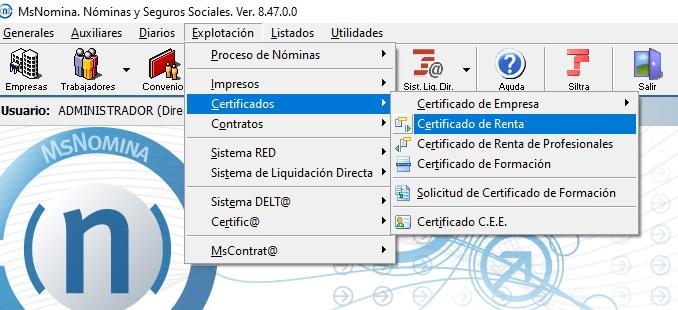 certificado irpf trabajadores nominas