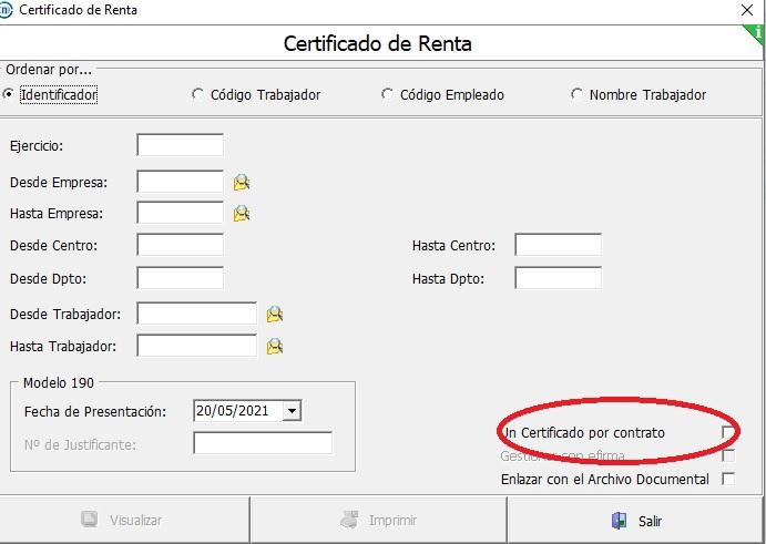 gestion certificado renta