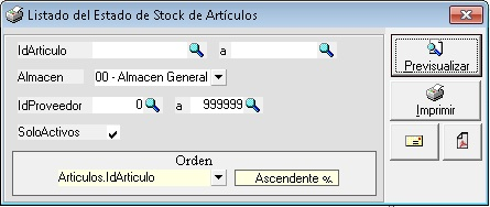 088 - Listados de existencias 005